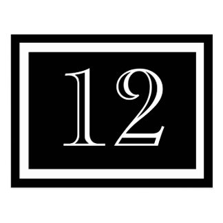 Black and White Table Number Cards Postcard