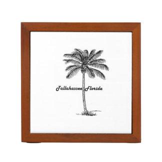 Black and White Tallahassee & Palm design Desk Organizer