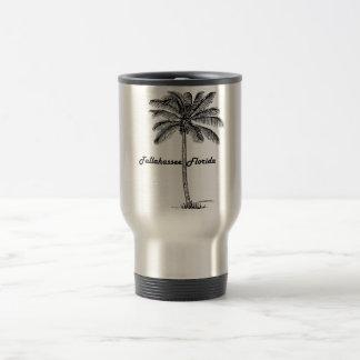 Black and White Tallahassee & Palm design Travel Mug