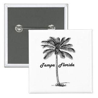 Black and White Tampa & Palm design Button