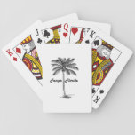 "Black and White Tampa &amp; Palm design Playing Cards<br><div class=""desc"">Black and White Tampa design. Inspired by the Simplicity,  Black and White,  Travel and Summer. Visit our store to find more CityNPalms designs!</div>"