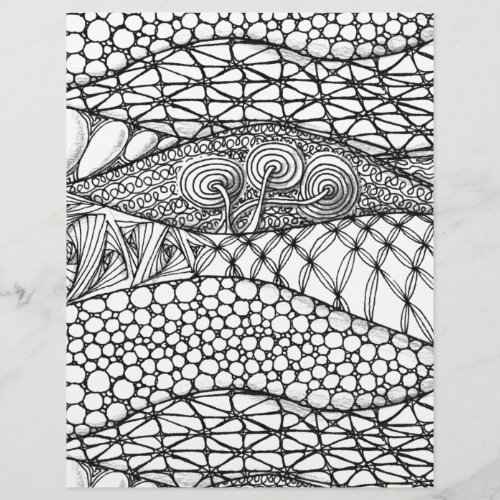 Black and White Tangled Mountains