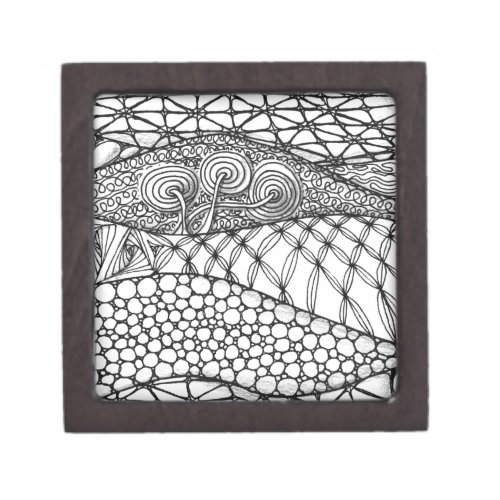 Black and White Tangled Mountains Gift Box
