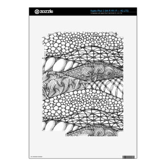 Black and White Tangled Mountains iPad 3 Decals