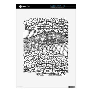 Black and White Tangled Mountains Skin For The iPad 2