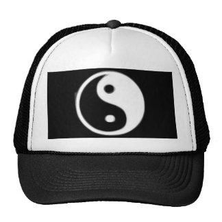 Black  and white Taojitu Trucker Hat