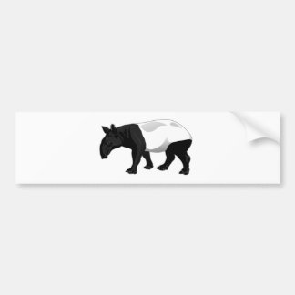 Black and White Tapir Bumper Sticker