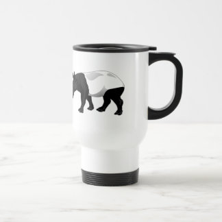 Black and White Tapir Travel Mug