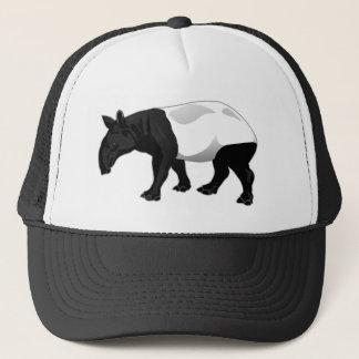 Black and White Tapir Trucker Hat