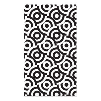 Black and white targets business card templates