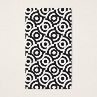 Black and white targets business card