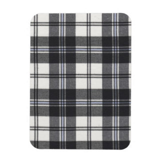 Black and white tartan magnet