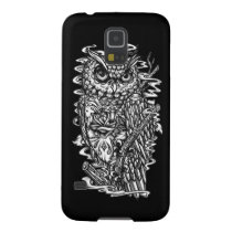 Black and white tattoo style owl illustration. galaxy s5 case
