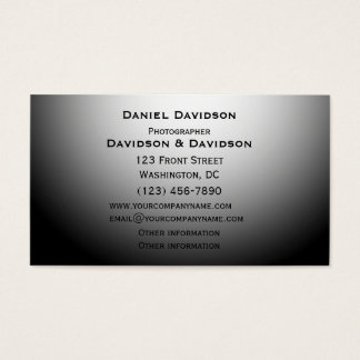 Black and White Template Business Card