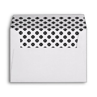 Black and white tennis ball liner envelopes