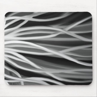 Black and White Tentacles Mouse Pad
