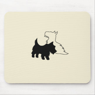 Black and White Terriers Mousepad