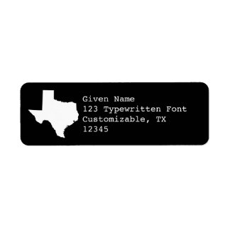 Black and White Texas Label