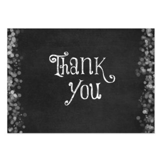 Black and White Thank You Large Business Cards (Pack Of 100)