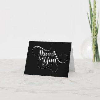 Black and White Thank You Cards