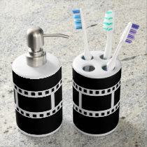 Black and White Theater Drama Bath Decor Bath Set