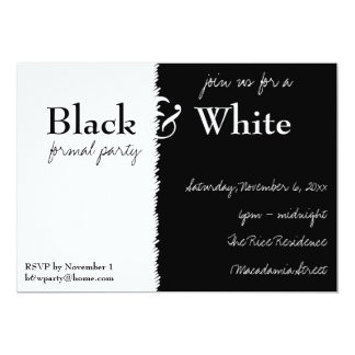 Black and White Theme Party Invitation