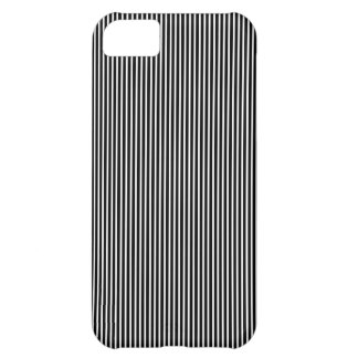 Black and White Thin Striped Case For iPhone 5C
