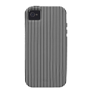 Black and White Thin Striped Case For The iPhone 4