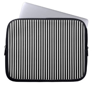 Black and White Thin Striped Computer Sleeve