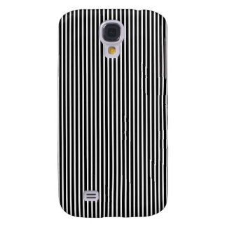 Black and White Thin Striped Galaxy S4 Case