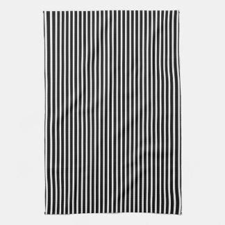 Black White Stripes Kitchen Towels Zazzle