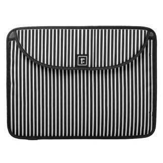 Black and White Thin Striped Sleeve For MacBooks