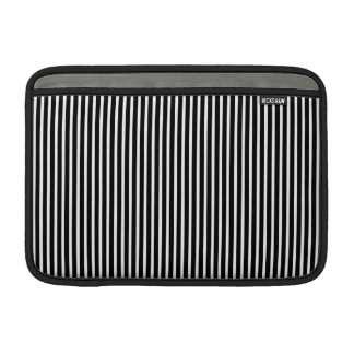 Black and White Thin Striped Sleeves For MacBook Air