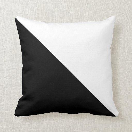 Black And White Throw Pillow Zazzle