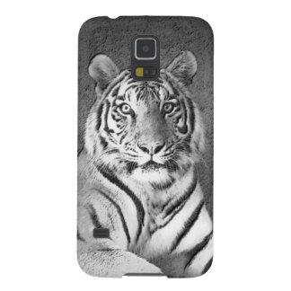 Black and White Tiger Art - Samsung Galaxy S5 Case