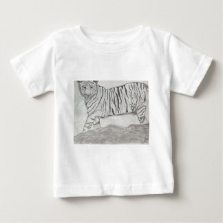 Black and White Tiger Baby T-Shirt