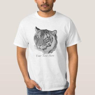 black and white tiger big cat wildlife art design T-Shirt