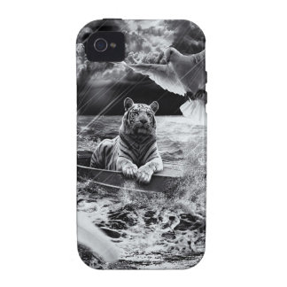 Black and White Tiger Boat Sailing Skylight iPhone 4/4S Cover