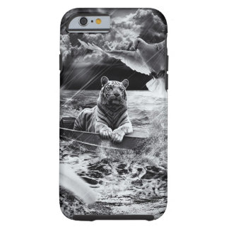 Black and White Tiger Boat Sailing Skylight Tough iPhone 6 Case