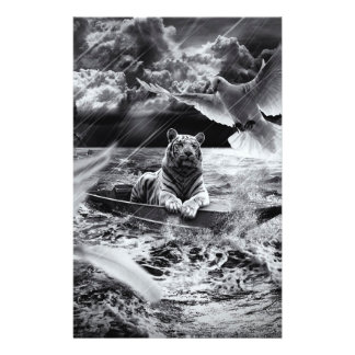 """Black and White Tiger Boat Sailing Skylight 5.5"""" X 8.5"""" Flyer"""