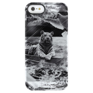 Black and White Tiger Boat Sailing Skylight Uncommon Clearly™ Deflector iPhone 5 Case