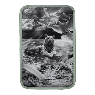 Black and White Tiger Boat Sailing Skylight Sleeves For MacBook Air