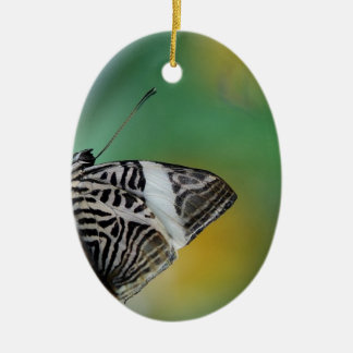 Black and White Tiger Butterfly Ceramic Ornament
