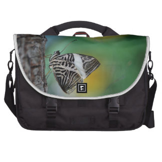 Black and White Tiger Butterfly Laptop Commuter Bag