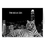 Black and White Tiger Cards