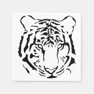 Black and White Tiger Cocktail Napkins