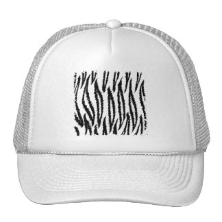 Black and White Tiger Pattern. Jagged Edge. Trucker Hat