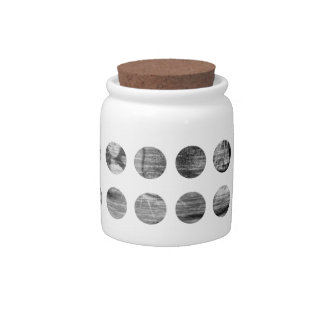 Black and White Tiger Polka Dots pattern Candy Jar