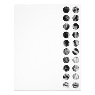 Black and White Tiger Polka Dots pattern Letterhead