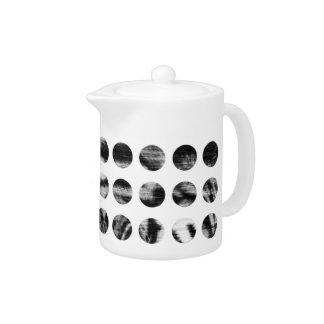 Black and White Tiger Polka Dots pattern Teapot